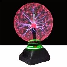 Xmas4 5 6 8 אינץ פלזמה כדור זכוכית אור גביש אור פלזמה כדור מנורת עבור חג המולד עיצוב הבית תאורה ילדים מתנות