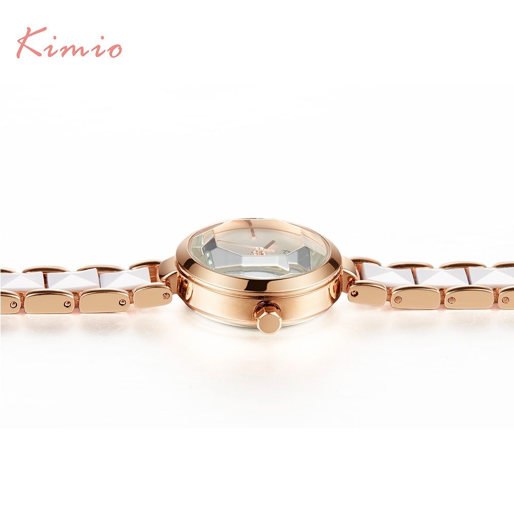 KIMIO Fashion Rose Gold Armband Horloge Dames Quartz Dameshorloges - Dameshorloges - Foto 5