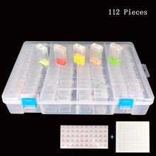 112/224pcs Diamond Painting Tools Storage Box Rhinestone Mosaic Container box diamond painting accessories Accessory