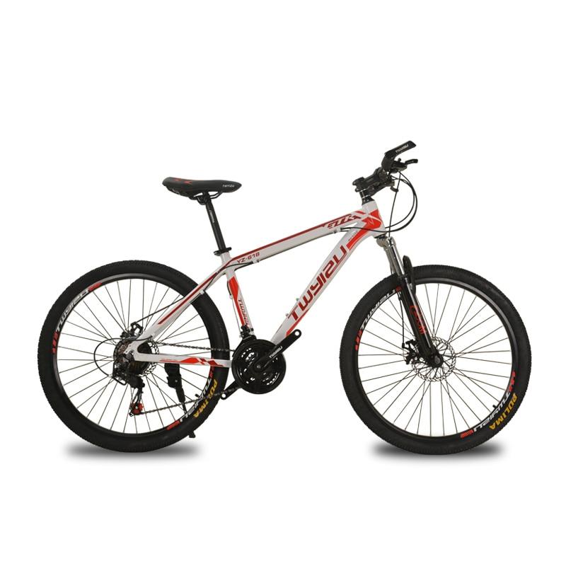 Mountain Bike Steel Shock Absorption 21-speed Aluminum Alloy Mountain Bikes Variable Speed Bicycle