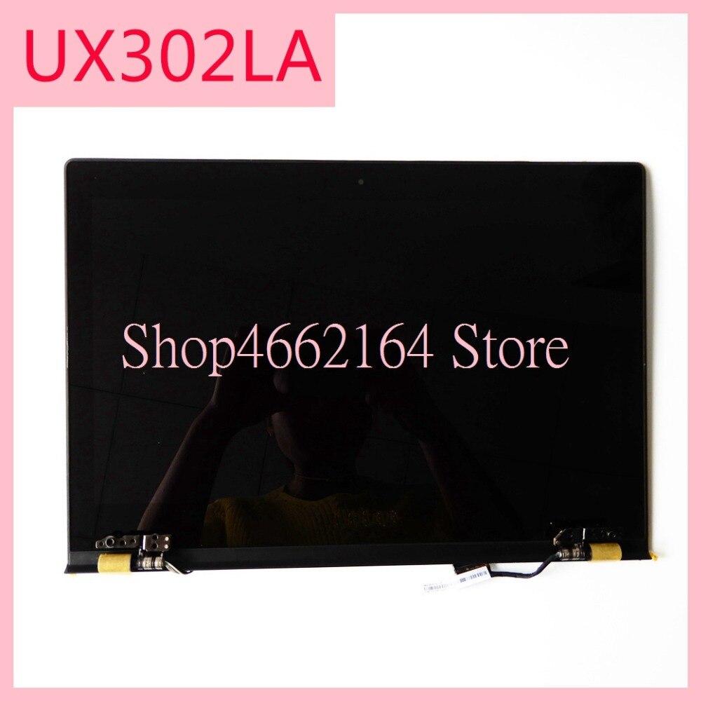 Для Asus zeenbook UX302 UX302LG UX302L UX302LA ЖК дисплей панель + сенсорный экран планшета Стекло сенсор сборки верхняя половина часть