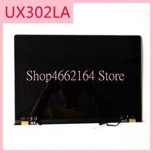 Dla Asus zeenbook UX302 UX302LG UX302L UX302LA wyświetlacz LCD + ekran dotykowy szkło Digitizer montaż czujnika górna połowa część