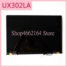 Para asus zeenbook ux302 ux302lg ux302l ux302la painel de exibição lcd + digitador da tela toque montagem do sensor vidro parte superior