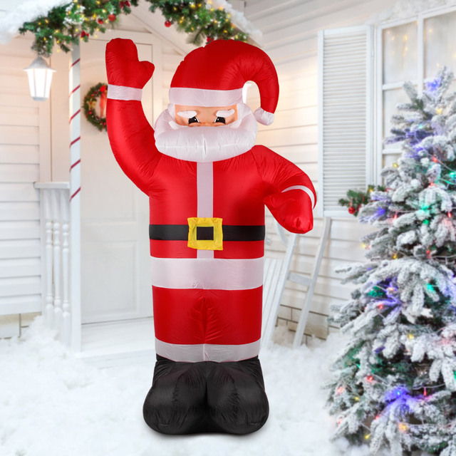 Us 59 33 35 Off Aliexpress Com Buy 2 4m Tall Inflatable Christmas Santa Claus Outdoor Christmas Decorations For Home Supermaket Ornaments Yard