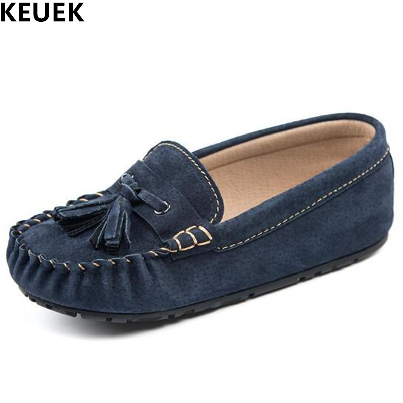 New Genuine Leather Children Shoes Boys Girls Baby Casual Leather Shoes Kids Tassel Moccasin Shoes Spring Autumn Flats 018 new fashion genuine leather children shoes boys girls casual brogue shoes baby breathable flats kids oxford shoes sneakers 03