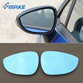 SmRKE 2 шт. для Ford Fiesta зеркало заднего вида синие очки широкоугольные СВЕТОДИОДНЫЕ указатели поворота свет Подогрев питания