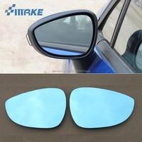 SmRKE 2Pcs Für Ford Fiesta Rückspiegel Blau Brille Weitwinkel Led Blinker licht Power Heizung-in Spiegel & Abdeckungen aus Kraftfahrzeuge und Motorräder bei