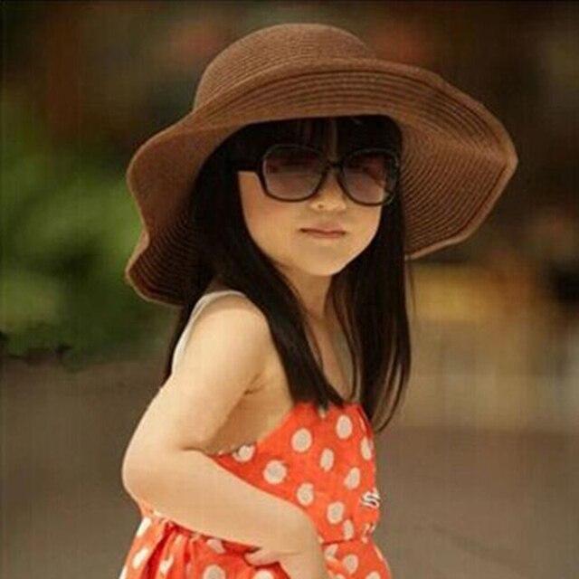 86eafb61e17f8 Corea del verano de Las Muchachas Gorras de Paja Sombrero para el Sol  Sombrero de la