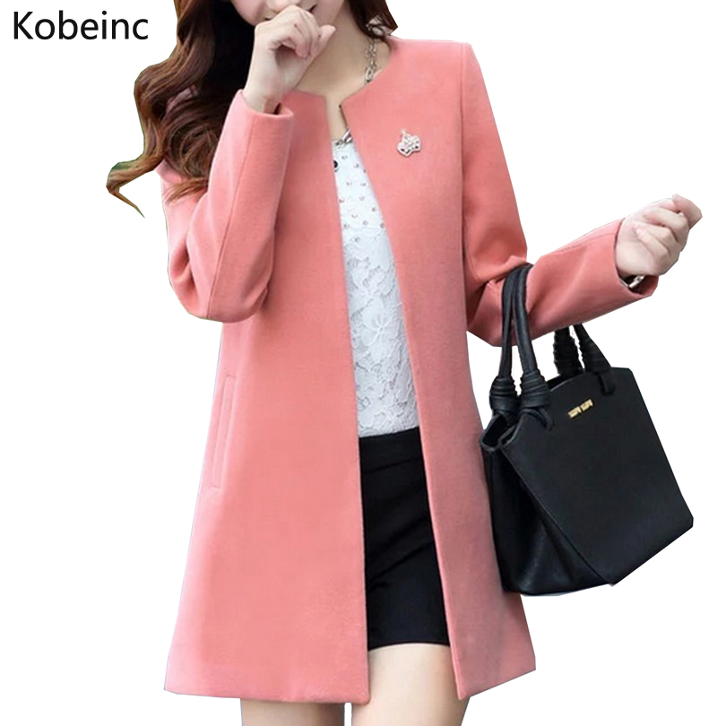 Fashion Round Neck Long Sleeve Women Coats S-XXL Solid Color Loose Cardigan Autumn Slim Thin Outerwear