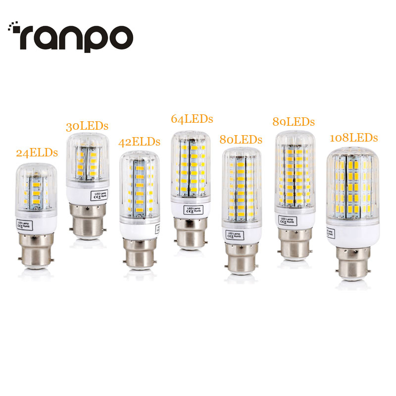 B22 Bayonet LED Corn Lights SMD 5730 Energy Saving Bulbs 7W 12W 15W 20W 25W Leds Lamp Bombillas Light Lampada Ampoule Lighting energy efficient 7w e27 3014smd 72led corn bulbs led lamps