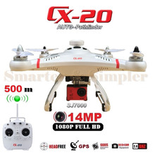 Professional Drone Cheerson CX-20 CX20 CX 20 RC Quadcopter With SJ7000 14MP Camera OR No Camera GPS AUTO Go Home VS Phantom 2(China)