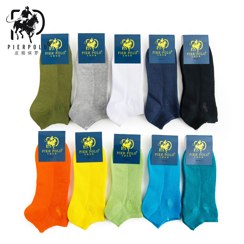 New Spring And Summer PIER POLO Cotton Men's Socks Men's Embroidery Socks