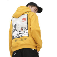 Autumn New Japan Style Hip hop Graffiti Hoodies Sweat Men Japanese Embroidery Cat Funny Wave Printed Fleece pullover Sweatshirts
