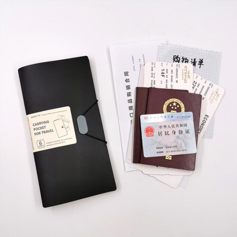 New File Folder Wallet Organ Bag Multi-function Business B6 Passport Holder Portable And Exquisite Storage Bill Holder