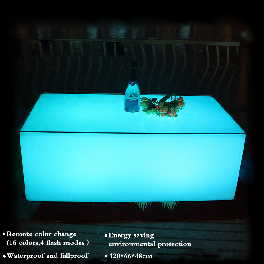 High-quality Creative Colorful LED Bar Table KTV Coffee Table Remote Control Color Change 16-Color Led Light Bar Table Hot Sale