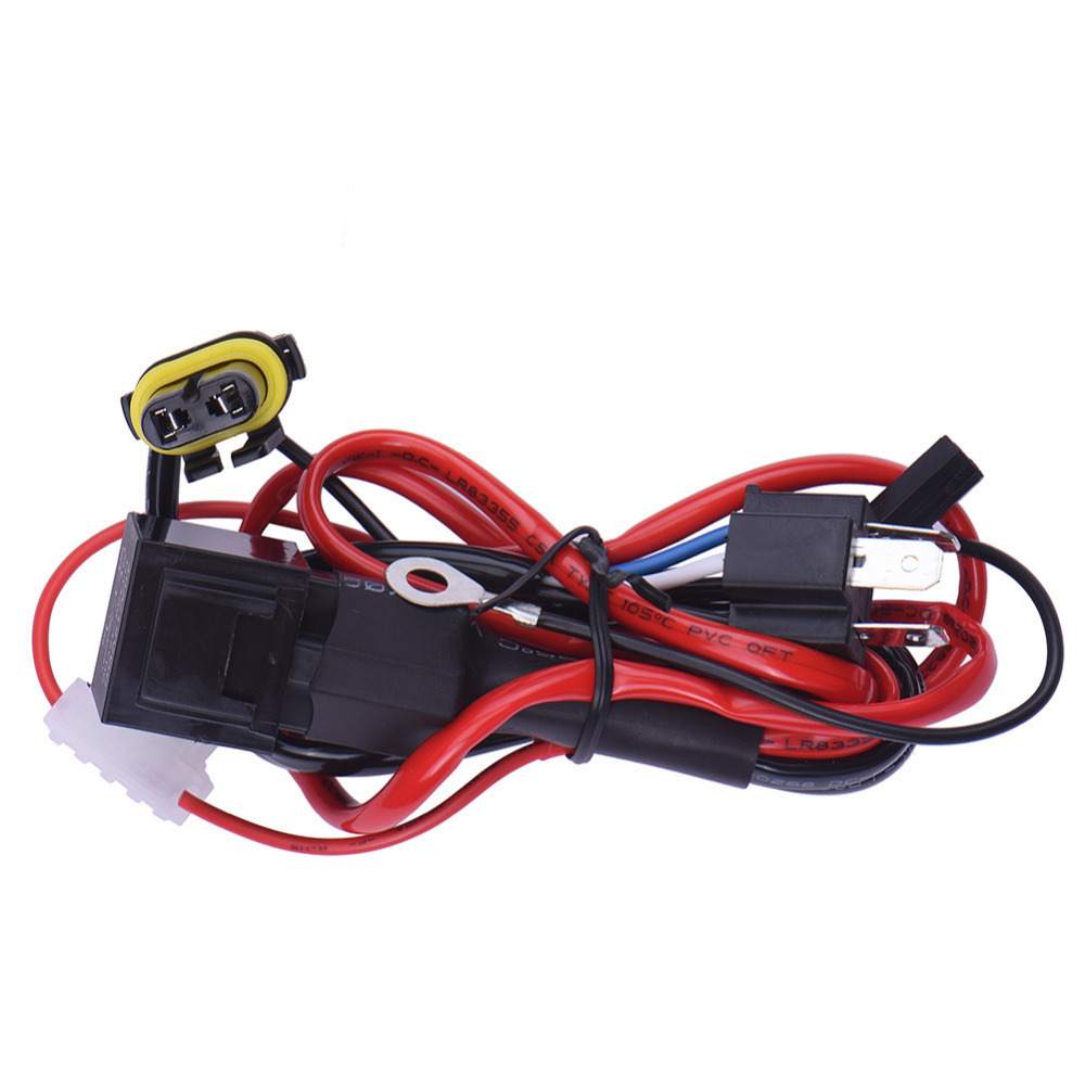 Universal Car Fog Light Wiring Harness Kit Loom For Led Work Driving Kits Cars Old 1pc H4 9003 Conversion Hid Xenon Bulb Relay Controller Lamp Plug Socket Cable