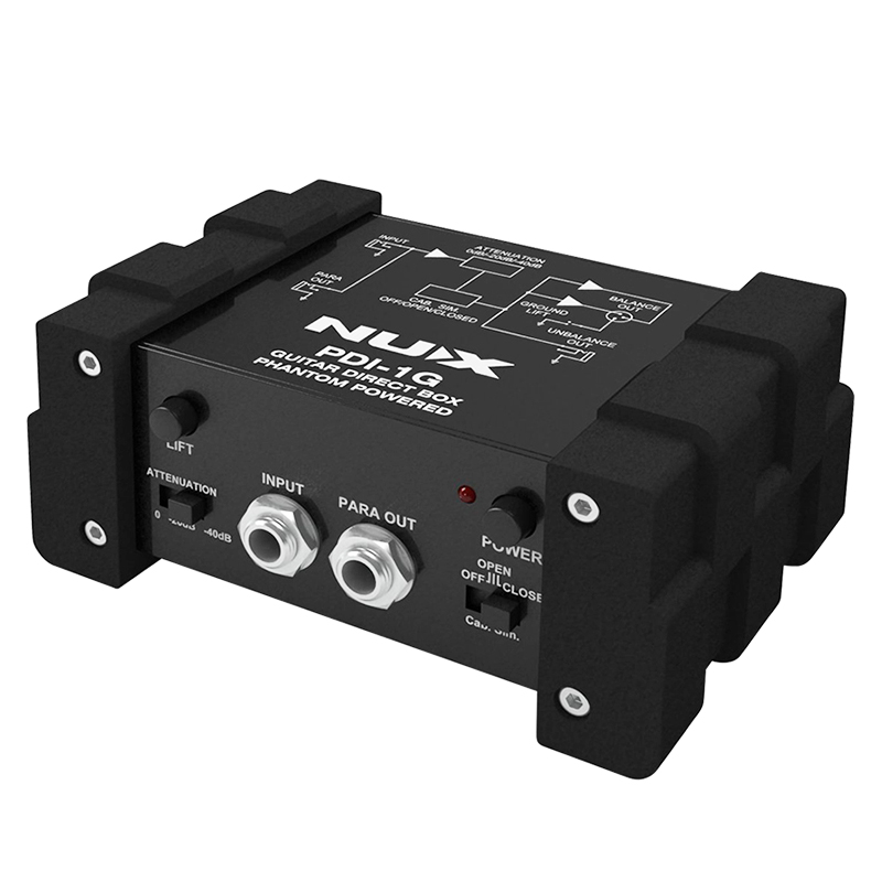 NUX PDI-1G Guitar Direct Box Guitar Direct Injection Phantom Power Box Audio Mixer Para Out Compact Design Metal HousingNUX PDI-1G Guitar Direct Box Guitar Direct Injection Phantom Power Box Audio Mixer Para Out Compact Design Metal Housing