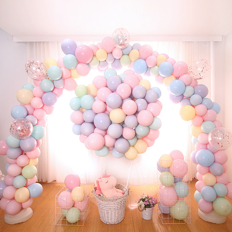 Image 5 - Macaron Color Latex Balloons 30pcs 5 inch Festival Birthday Party Decorative Balloons Sweet Colorful Party Hanging Decoration-in Ballons & Accessories from Home & Garden