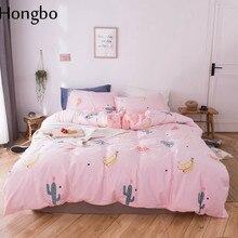 68ee328239 Hongbo Banana Primavera Verão Outono roupa de Cama Jogo de Cama Fibra  Superfina Cactus 3