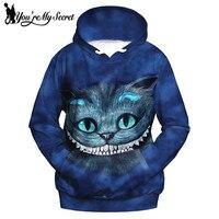 You Re My Secret Fashion Alice Cat 3d Print Women Hoodies Sweatshirts Sudaderas Mujer Female
