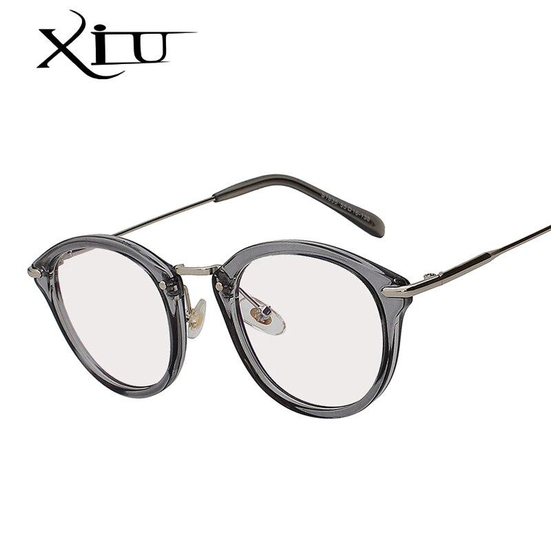 6cf92de9a3d38 XIU Sombra Oval Óculos de Lente Clara Óculos Homens Mulheres Moda Retro  Vintage Marca Designer Eyewear
