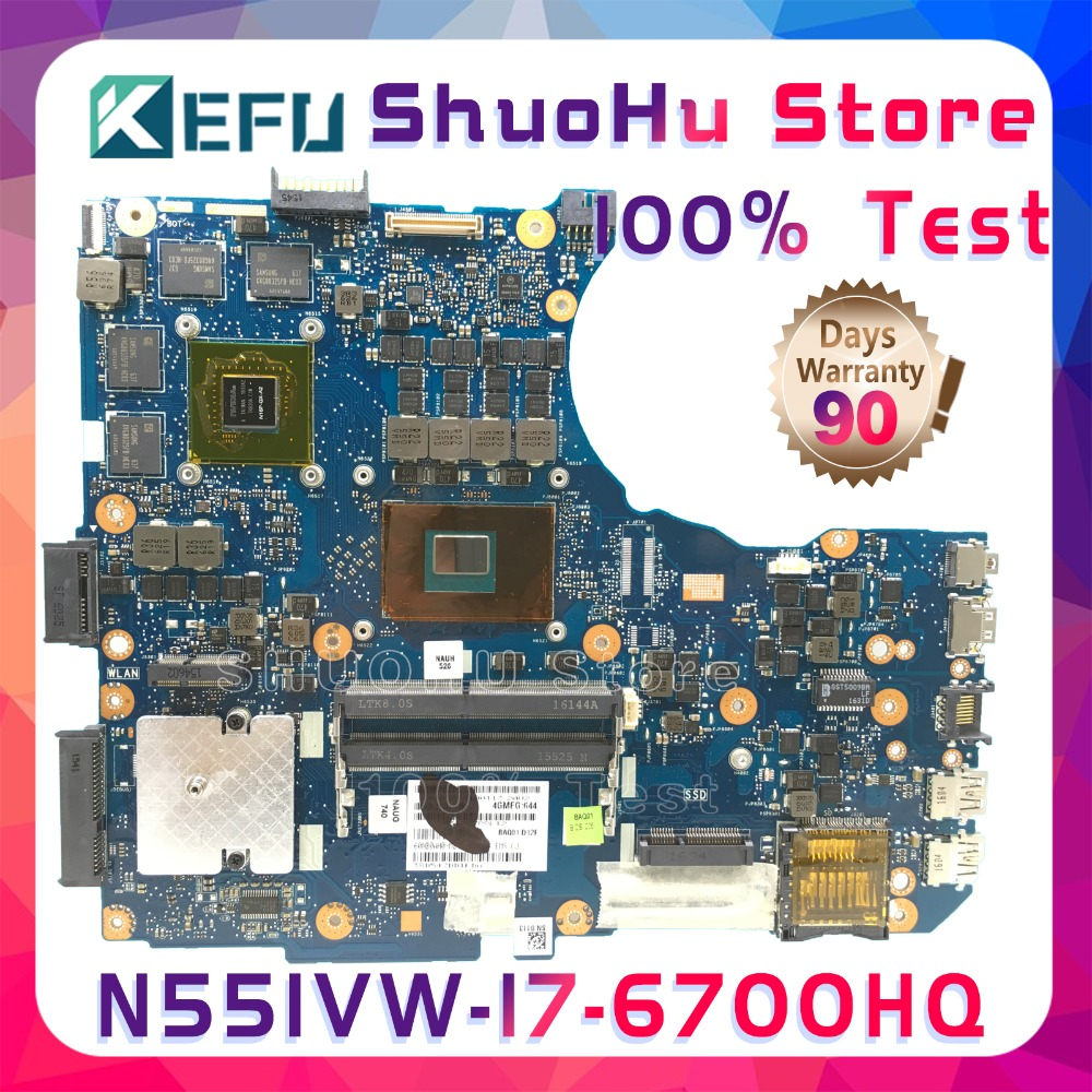 KEFU G551VW For <font><b>ASUS</b></font> N551VW <font><b>N551V</b></font> G551VW G551V FX51V FX51VW CPU I7-6700HQ laptop motherboard tested 100% work original mainboard image