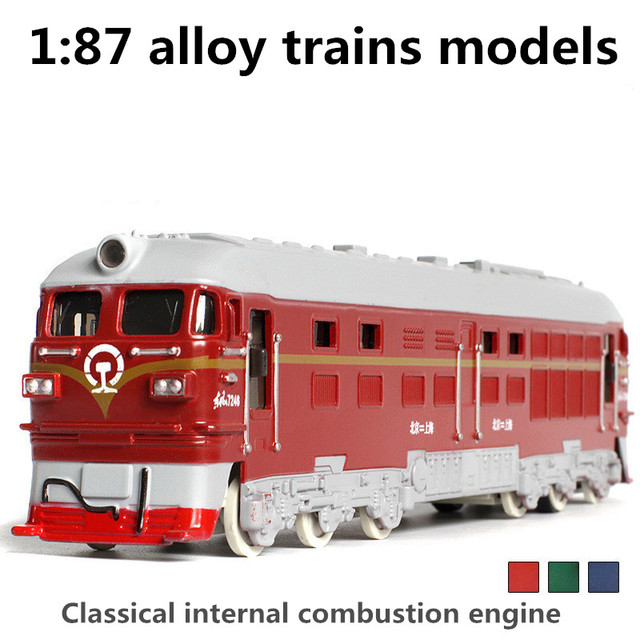 1:87 plastic trains models,high simulation internal combustion engine,toy vehicles, pull back & flashing & musical,free shipping