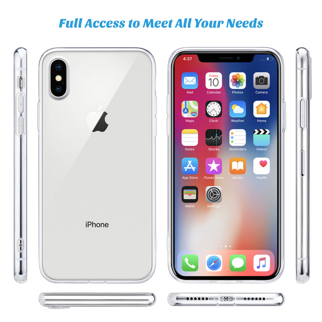 For iPhone X Case, WEFOR Slim Clear Soft TPU Cover Support Wireless Charging for Apple 5.8″ iPhone X /iPhone 10