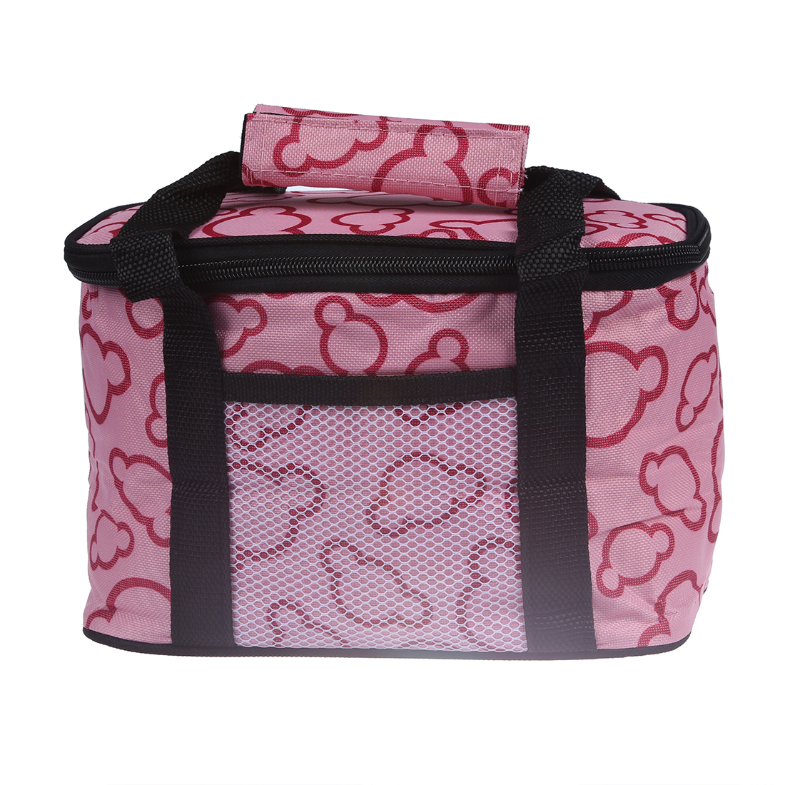 FGGS-Insulated and Water-Proof Lining Lunch Box Bag Cooler Tote Bag--Pink