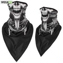 WOSAWE мотоциклы маска для лица Спорт Мотокросс мото шарф череп Лыжная велосипедная Балаклава мотоцикл mtb Велоспорт Защита для лица