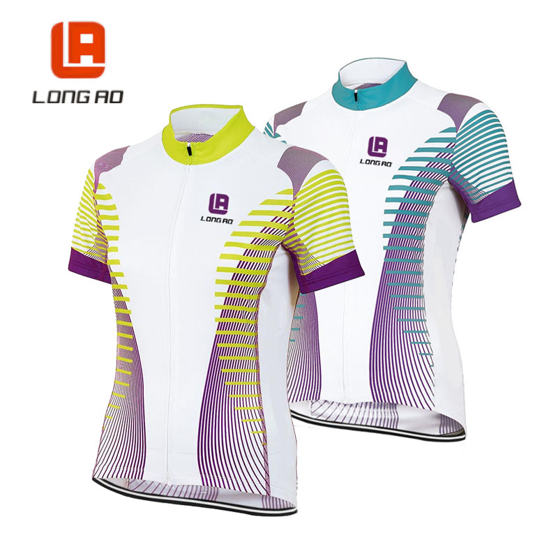 longao woman Cycling Jersey Ropa Ciclismo Mujer Mountain Bike Clothing Short Sleeve Bicycle Clothes 2 color