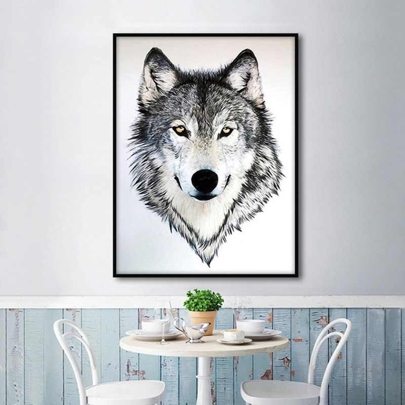 Nordic Style Picture Animals Posters and Prints Wolf Canvas Painting Wolves Wall Art Modern Home Decoration Scandinavian Decor