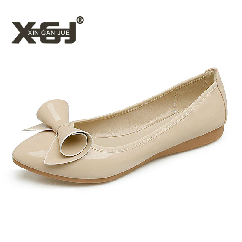New Casual Womens Flats 2018 Soft Outsole Flodable Ballet Flats Super Big Size 43 44 45 Flat Shoes Woman Point Toe Ladies Flats 2017 brand new women s flats shoes diamond knitted soft pu leather gold silver point toe flats womens pr153 plus size 40 41