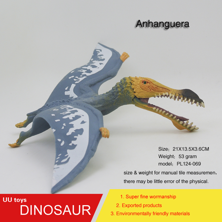 Hot toys Jurassic blue Anhanguera Plastic Dinosaur Toys Model Action Figures Boys Gift toys for children 12pcs set children kids toys gift mini figures toys little pet animal cat dog lps action figures