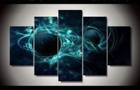 5 panel HD printed modular painting nebula canvas print art modern home decor wall art picture for living room F0878