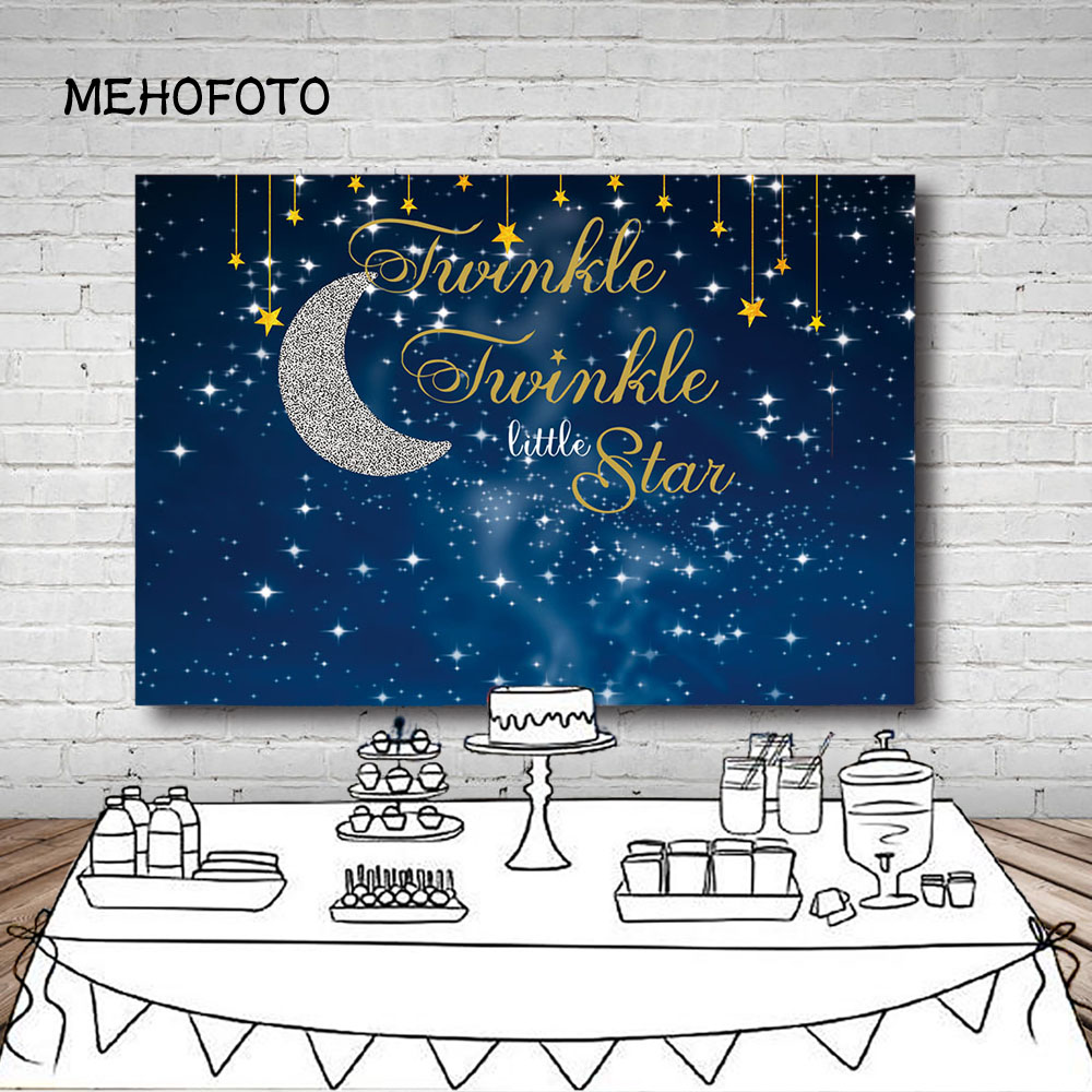 Vinyl Photography Background Girl Birthday Party Baby Shower Twinkle Twinkle Little Star Banner Children Backdrop Photo Studio in Background from Consumer Electronics