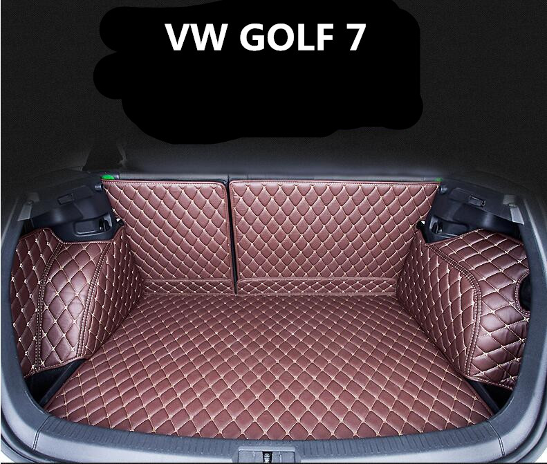 full rear trunk tray liner cargo mat floor protector foot pad mats  volkswagen vw golf