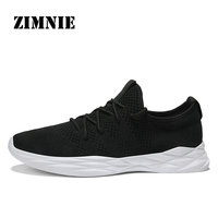 ZIMNIE Men Sneakers Super Light Breathable Running Shoes Athletic Sports Men Sneakers Lace Up Cushion Classic
