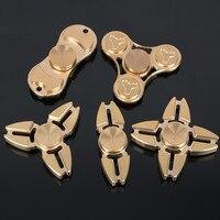 Tri Fidget Hand Spinner Triangle Torqbar Brass Puzzle Finger Toy EDC Focus Fidget Spinner ADHD Austim