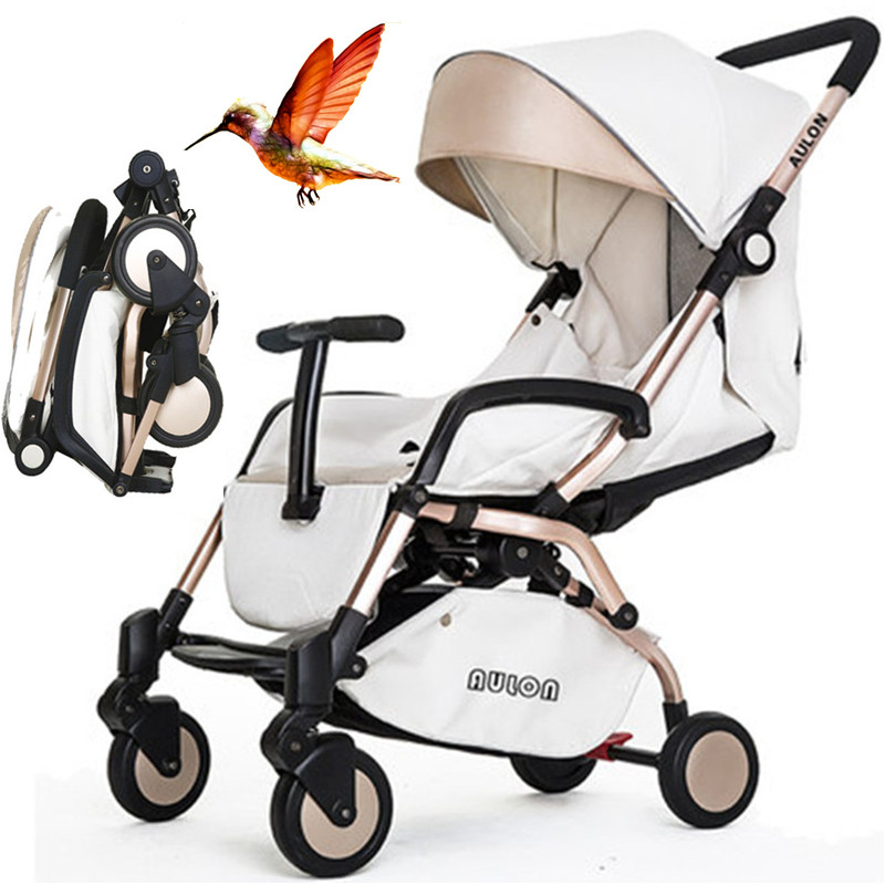 SecKill !!!  6.9KG High-quality, Able to Carry in Airplane Baby Stroller. Aluminum Alloy Portable Folding Pram, Super-light