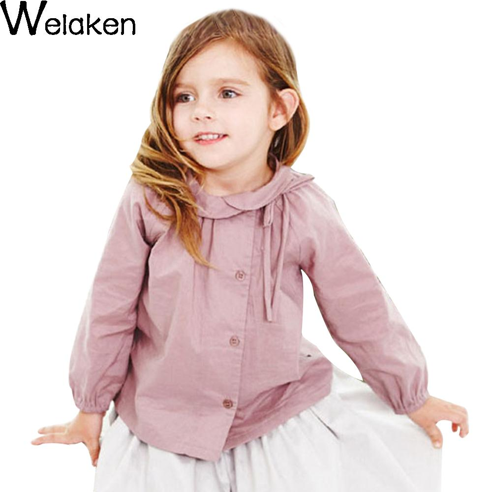 New Fashion 2016 Girl Blouse Europe And America Style Children Tops Spring Children Shirts Personality Kids Girl Blouse