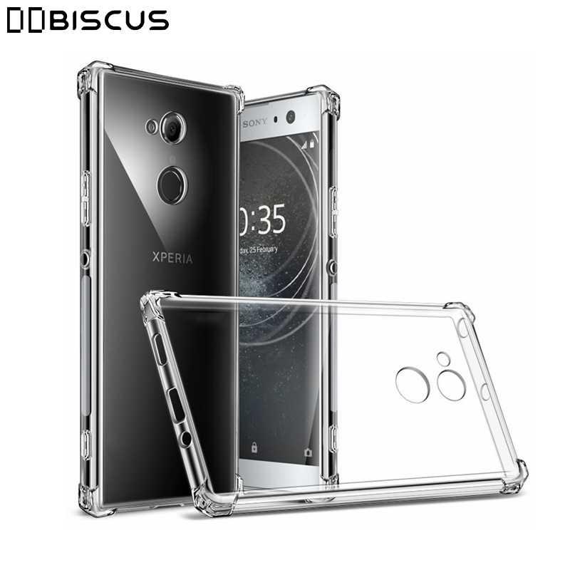 Etui do Sony Xperia 10 1 5 Ace XZ3 XZ Premium XA XA2 Ultra XA1 Plus X XZ1 XZ2 Compact kompaktowy L1 L2 L3 8 XZS odporna na wstrząsy, przezroczysta pokrywa silikonowa