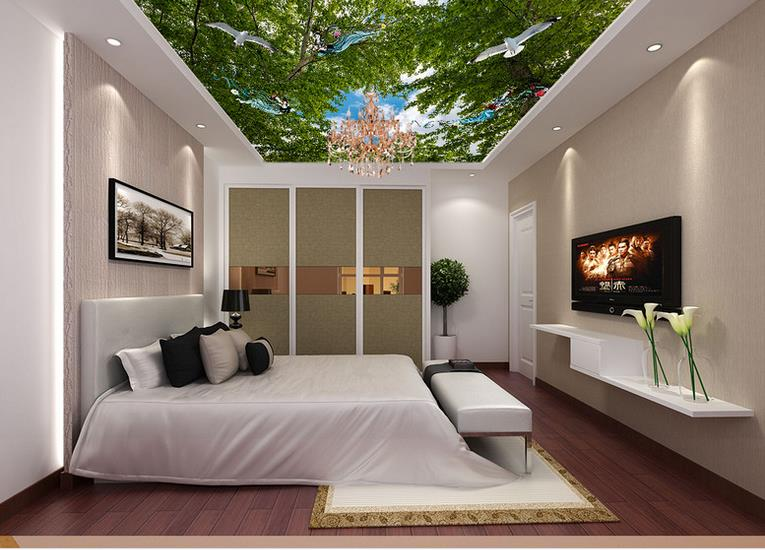 custom 3d ceiling Big tree with seagulls angel 3d ceiling murals wallpaper for bedroom 3d ceiling wallpapers for living room sky ceiling wallpaper photo wallpaper for kids living room bedroom nonwoven wallpaper 3d ceiling murals wallpaper