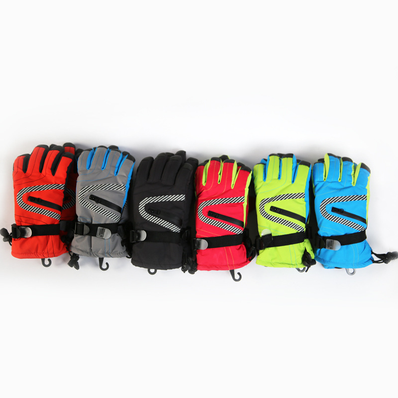 OSHOW Adult Ski Gloves Outdoor Sports Guantes Snowboarding Gloves Waterproof Skiing Gloves For Women SnowBoard Winter