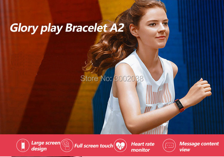 New original HUAWEI glory Glory play Bracelet A2 Running time, exercise, heart rate monitoring For Android xiaomi Bracelet 2 IOS 1
