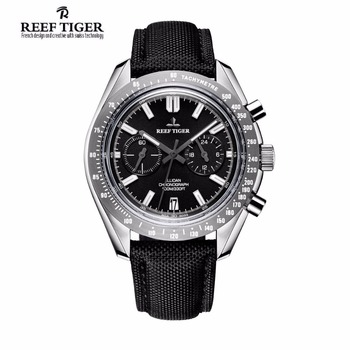 2020 New Reef Tiger/RT Brand Designer Mens Watch with Chronograph Date Super Luminous Nylon Strap RGA3033 - discount item  30% OFF Men's Watches