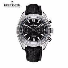 2020 Nieuwe Reef Tijger/Rt Merk Designer Heren Horloge Met Chronograaf Datum Super Lichtgevende Nylon Band Horloge RGA3033