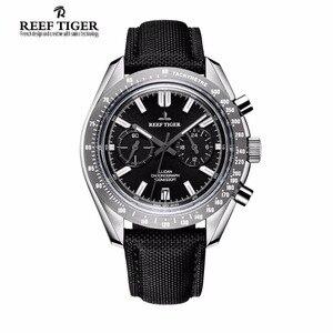 Image 1 - Reef Tiger/RT Reloj de marca de diseñador para hombre, con cronógrafo, fecha, superluminoso, correa de nailon, RGA3033, novedad de 2020