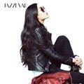 2016 Новая Коллекция Весна Высокой Уличной Моды женщин Реального Натуральной Кожи Куртка Черный Мотоциклетная Куртка короткая пиджаки хорошее качество