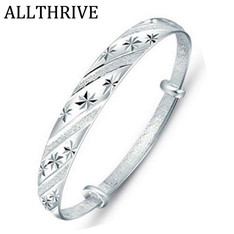 Meteor Shower Women Bangles Bracelets Silver Plated Girls Cuffs Bangles Charm Decoration Jewelry 2018 Hot Fashion